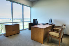 Office with Desk and Chairs Royalty Free Stock Photography