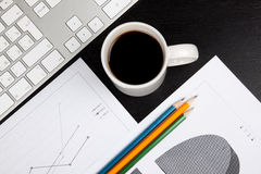 Office desk with coffee Stock Photography