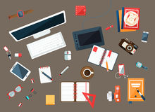 Office Desk Collection Of Utilities Stock Photos