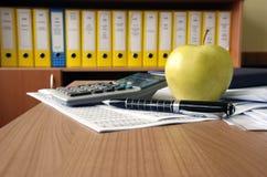 Office desk composition Stock Photo