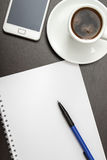 Office desk composition with blank paper Royalty Free Stock Photography