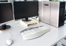 Office desk with computer Royalty Free Stock Image