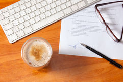 Office desk with everyday objects Royalty Free Stock Photo