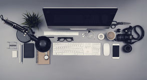 Office desk hero header Stock Photos