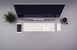 Office desk hero header Royalty Free Stock Photos