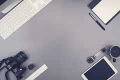 Office desk hero header royalty free stock images