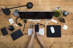 Office desk hero header Royalty Free Stock Photos