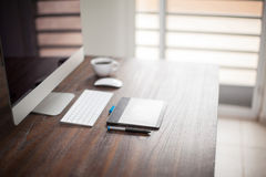 Office desk of an illustrator Royalty Free Stock Photo