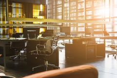 Modern workspace and coworking space Stock Photos