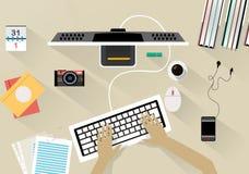 Office desk  interior Stock Image