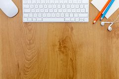 Office desk with keyboard. Stock Photos