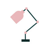 Office desk lamp isolated icon. Vector illustration design Stock Photography