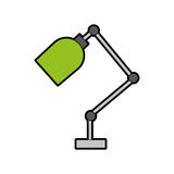 Office desk lamp isolated icon. Vector illustration design Stock Photos