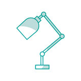 Office desk lamp isolated icon. Vector illustration design Royalty Free Stock Image
