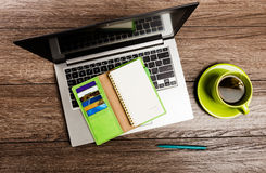 Office desk with laptop computer Royalty Free Stock Image