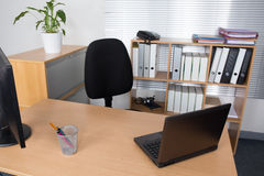 Office desk with laptop, job , redundant, business concept Stock Photography