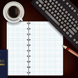 Office desk with notepad Royalty Free Stock Photos