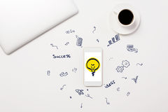Office desk with sketch Stock Photography