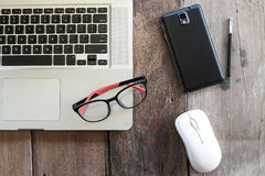 Office desk table with computer.  Royalty Free Stock Photos