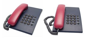 Office desk telephones Royalty Free Stock Images
