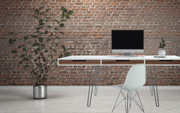 Office desk on wire legs design Royalty Free Stock Image