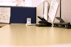 Office Desk With Hole Puncher And Stapler Stock Photography