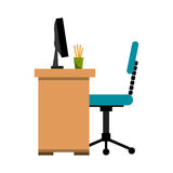 Office desk work place Stock Image