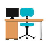Office desk work place Royalty Free Stock Photos