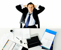 Office desk worker Royalty Free Stock Photography