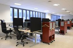 Free Office Desks And Chairs Royalty Free Stock Photography - 100837067