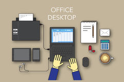 Office desktop form up Royalty Free Stock Images