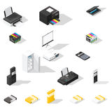 Office detailed  isometric icon set Stock Images
