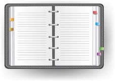 Office diary with line Royalty Free Stock Photography
