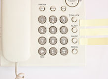Office digital multi-button, light gray telephone Royalty Free Stock Image