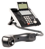 Office digital phone off-hook Royalty Free Stock Photo