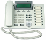Office digital telephone isolated Stock Photos