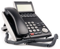 Office digital telephone with LCD Royalty Free Stock Photo