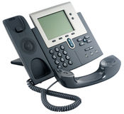Office digital telephone set, off-hook Royalty Free Stock Photos