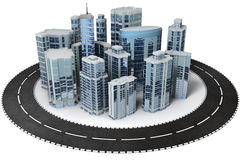 Office district Stock Images