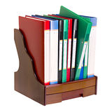 Office document folders standing in a row Stock Images