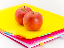 Office Documents and Apples Stock Images