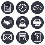 Office, documents and business icons Stock Photography