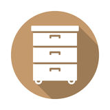 Office documents cabinet flat icon Stock Photography