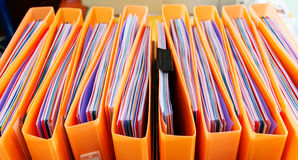 Office documents in folders Royalty Free Stock Photography