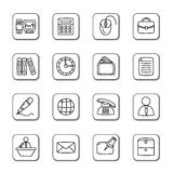 Office Doodle Icons Stock Photos