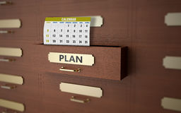 Office drawers and planning Royalty Free Stock Image