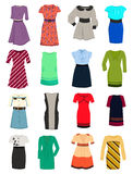Office dresses. Set of summer and autumn dresses for office Royalty Free Stock Photo