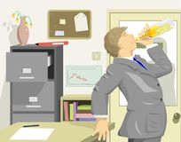Office drinker Stock Photo