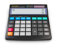 Office electronic calculator. Creative abstract finance, accounting, tax and corporate success concept: black modern office business financial digital electronic Royalty Free Stock Image