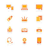 Office electronics icons | JUICY series Royalty Free Stock Images